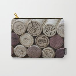 Vintage Wine Corks Carry-All Pouch