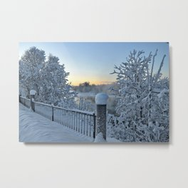 Winter on the Chena River Metal Print