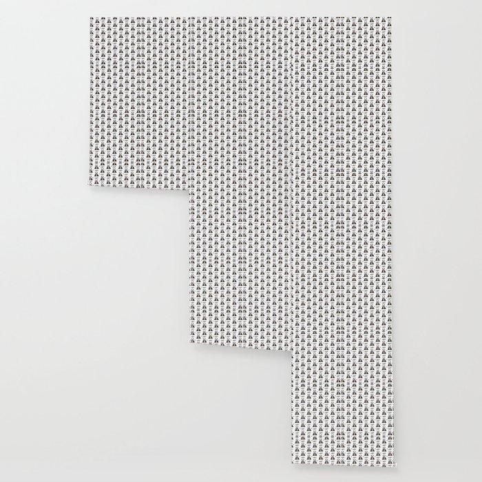 Garden Panda Pattern Wallpaper