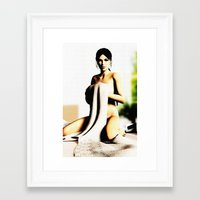 lara croft Framed Art Prints featuring LARA CROFT by Ylenia Pizzetti