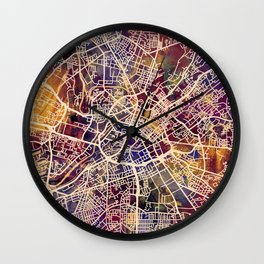 Manchester England Street Map Wall Clock