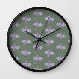 Meadow Bees Wall Clock