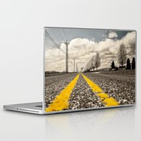 road Laptop & iPad Skins featuring Road by Color and Patterns