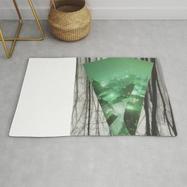 Emerald in the Trees Rug