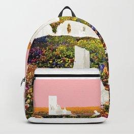 White Ruins In Flower Fields Backpack