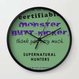 Monster Butt-Kicker Wall Clock
