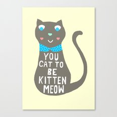 Witty Cat Canvas Print