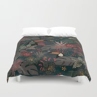 jungle Duvet Covers featuring Jungle by Kimsa