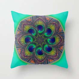 circle of feathers  Throw Pillow