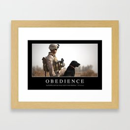 Obedience: Inspirational Quote and Motivational Poster Framed Art Print