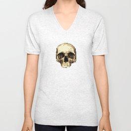 Pixel Skull Unisex V-Neck