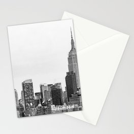 The New York Cityscape City (Black and White) Stationery Cards