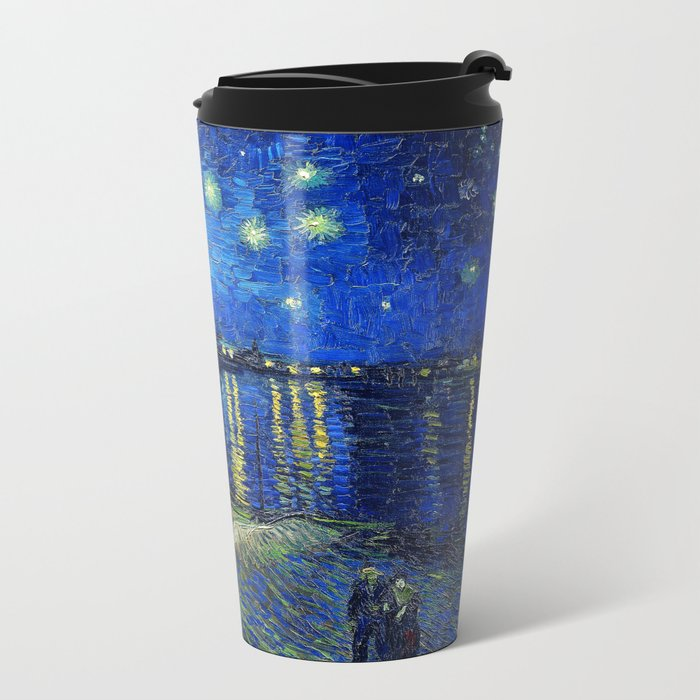 Starry Night Over the Rhone by Vincent van Gogh Metal Travel Mug