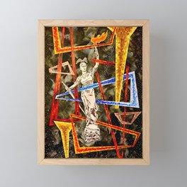 Monumental geometric Framed Mini Art Print