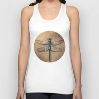 dragonfly Tank Tops featuring Dragonfly  by Werk of Art