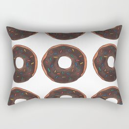 Chocolate Doughnuts Rectangular Pillow