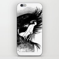 apollonia iPhone & iPod Skins featuring asc 602 - La spectatrice (Valentina at the gallery) by From Apollonia with Love