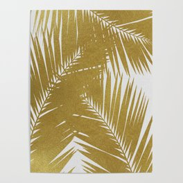 Palm Leaf Gold III Poster