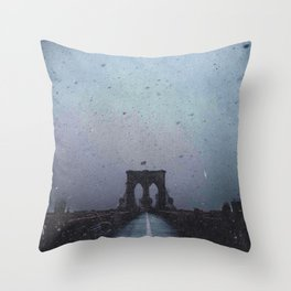 Brooklyn Bridge in the Dark Throw Pillow
