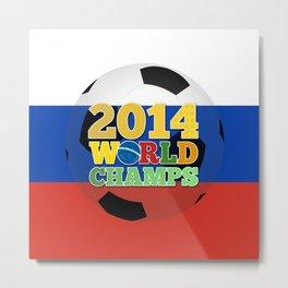2014 World Champs Ball - Russia Metal Print