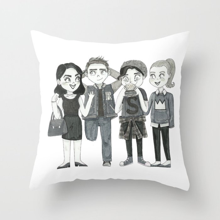 Riverdale Archie Veronica Betty Jughead Throw Pillow By Awesome Riverdale Decorative Pillows