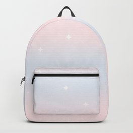 blue pink watercolor pattern with stars Backpack