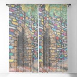 Poinsett Bridge  Sheer Curtain