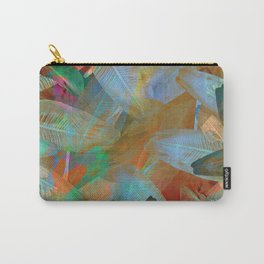 """""""Spring Tropical Pastel Leaves"""" Carry-All Pouch"""