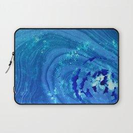 Blue Abstract Modern Art - Infinity - Sharon Cummings Laptop Sleeve