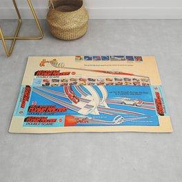 Vintage Hot Wheels Redline Flying Colors Double Scare Trade Print Poster Rug