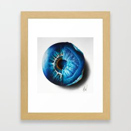 """Crystal Geode Eye"" Drawing Framed Art Print"
