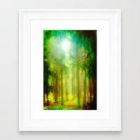 fairy tale Framed Art Prints featuring Fairy tale by Armine Nersisian
