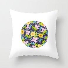 Floral Circle  Throw Pillow