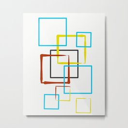 Nine Squared Metal Print