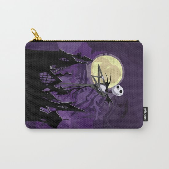 Halloween Purple Sky with jack skellington iPhone 4 4s 5 5c, ipod, ipad, pillow case tshirt and mugs Carry-All Pouch