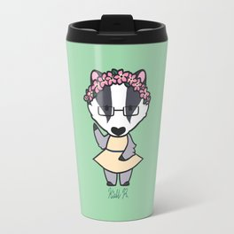 Spring Badger Travel Mug