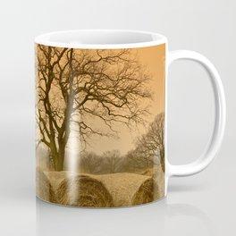 Straw Bales Sunset Landscape Coffee Mug