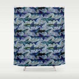Deep Water Sharks Shower Curtain