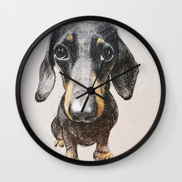 Dog dachshund Wall Clock
