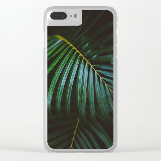 Tropical Hustle Clear iPhone Case