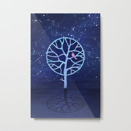 Nightingale tree Metal Print