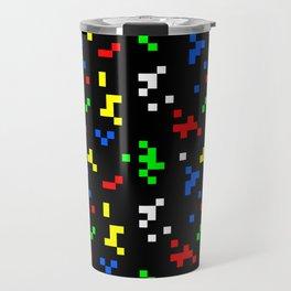 Retro 8 Bit Video Game Graphics Pattern Travel Mug