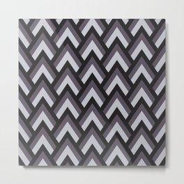 Mid Century Modern Triangles (Charcoal) Metal Print