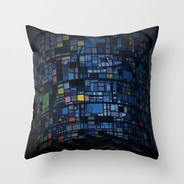 Stained glass water tower Throw Pillow