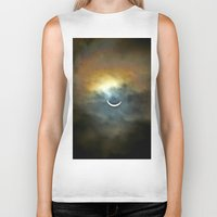 ruben Biker Tanks featuring Solar Eclipse 2 by Aaron Carberry