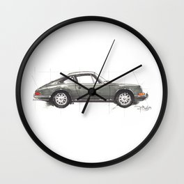 Grey 911 Wall Clock