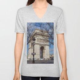 Paris, France: Arc de Triomphe Unisex V-Neck