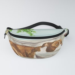 Pittie on a Porch Swing Fanny Pack
