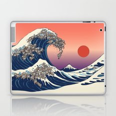 The Great Wave of Sloth Laptop & iPad Skin