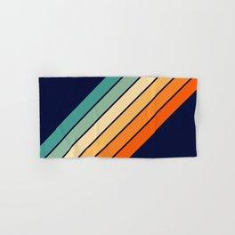 Farida - 70s Vintage Style Retro Stripes Hand & Bath Towel